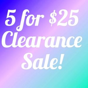 🦋 5 FOR $25 CLEARANCE SALE! ADD ITEMS TO A BUNDLE